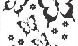 Moldes de Borboletas para Imprimir: 15 Imagens