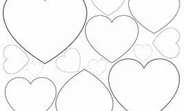 Moldes de coração para imprimir e recortar