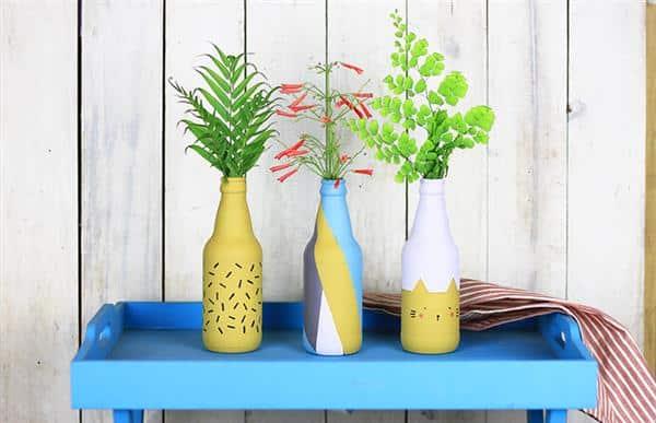 Read more about the article Como pintar garrafa de vidro passo a passo