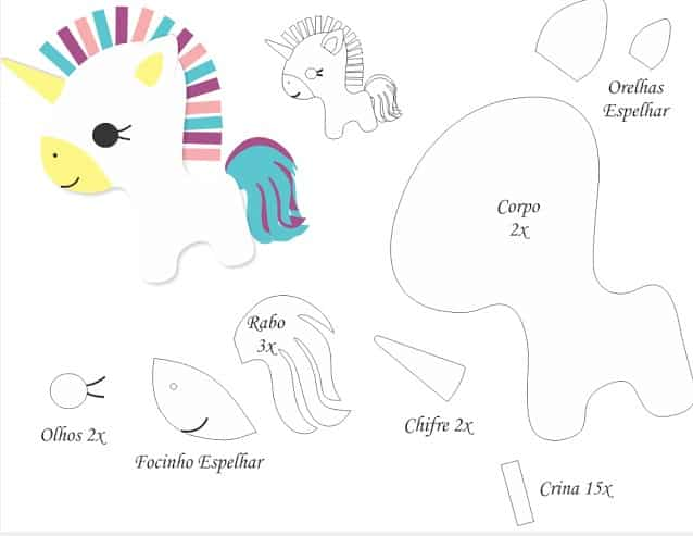 molde de unicornio 3d