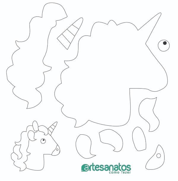 molde chifres de unicornio