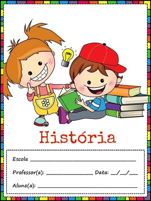 desenhos para capa de caderno de historia