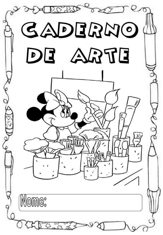 desenhos para capa de caderno para colorir