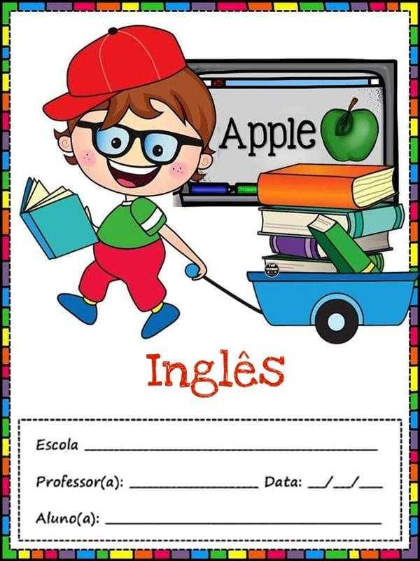 desenho para capa de caderno infantil