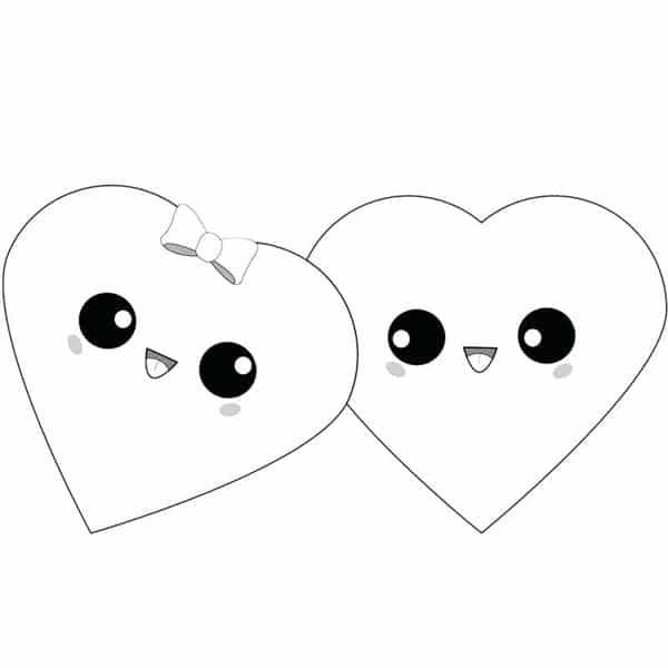 corações kawaii