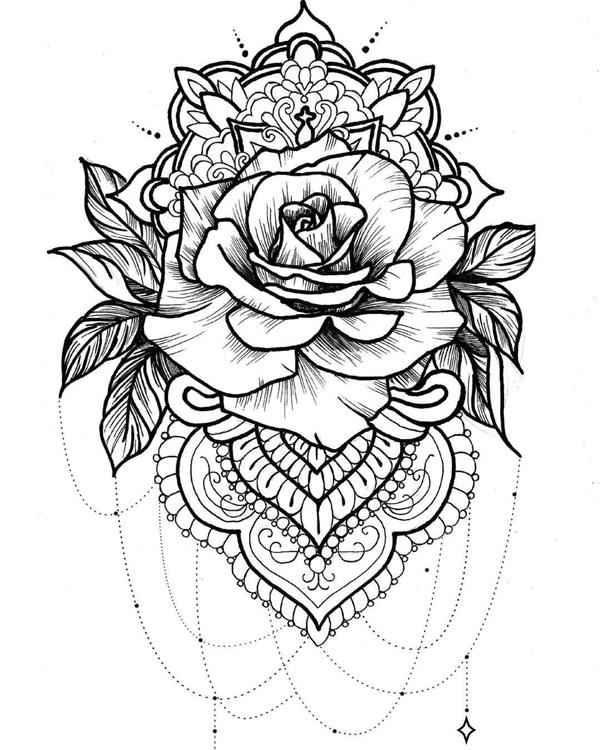 desenhos de rosas para pintar