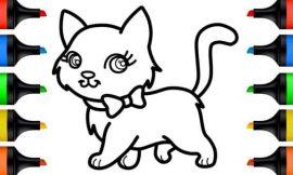 Gato para Colorir: desenhos para imprimir e pintar
