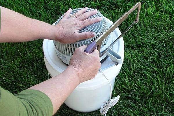 ar condicionado caseiro com ventilador e gelo