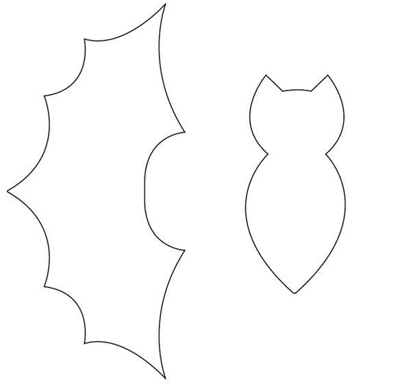 molde de morcego para colorir