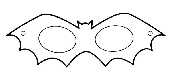 molde de mascara de morcego