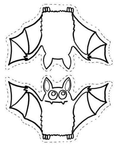 molde de morcego para pintar
