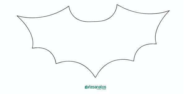 molde de morcego de feltro
