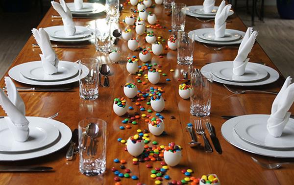 decoração de mesa para pascoa
