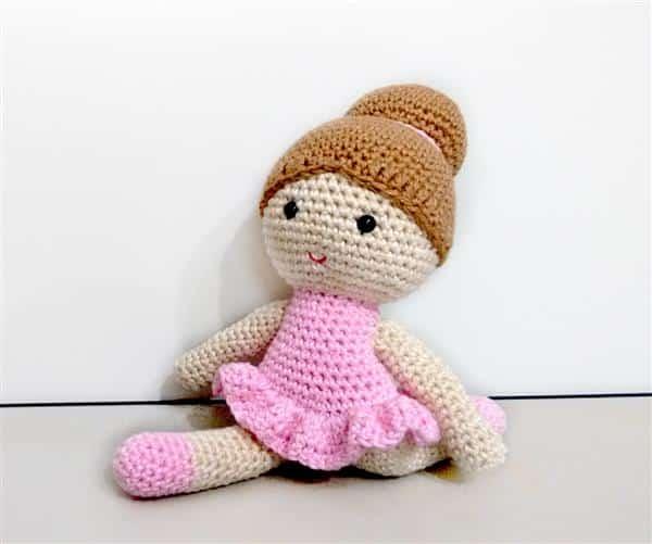 bonecas de crochê bailarina