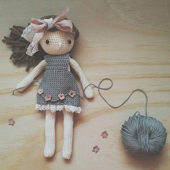 boneca de croche articulada