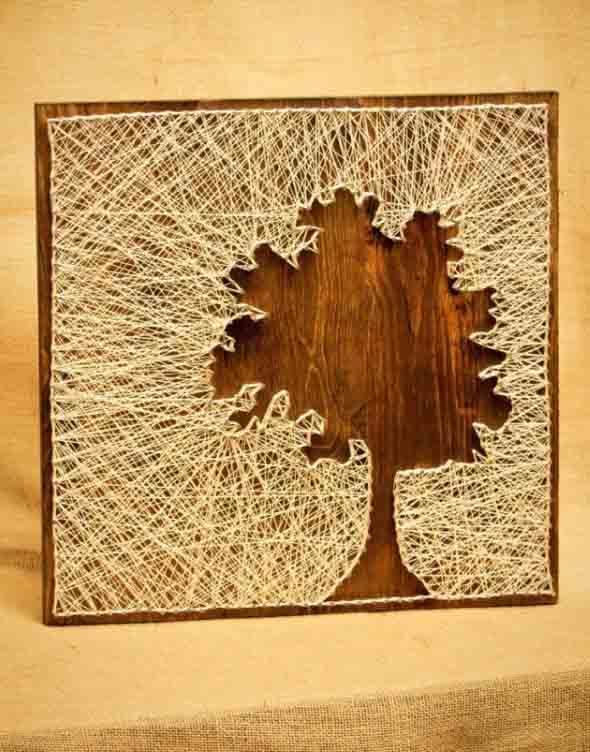 quadro string art arvore