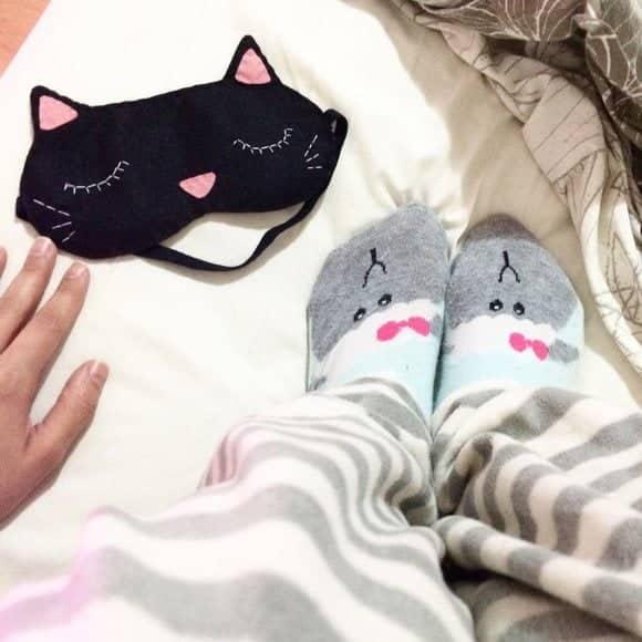 mascara de dormir gatinho