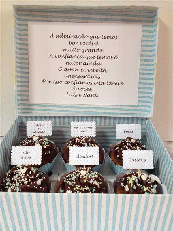 convite com cupcakes