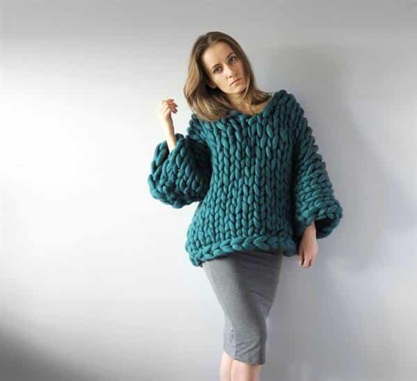 como fazer trico gigante
