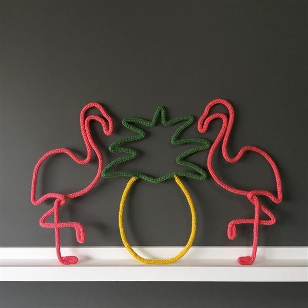flamingo de tricotin