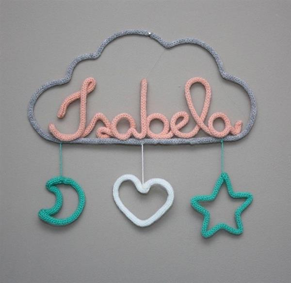 nome com nuvem e estrelas