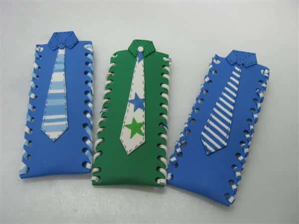 porta caneta com gravata