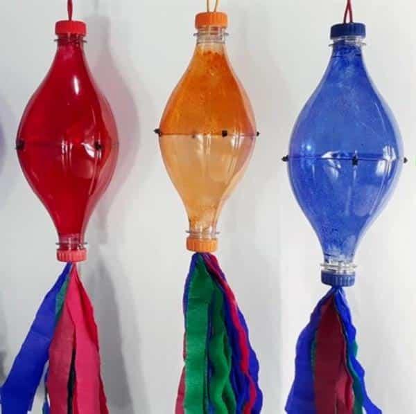 balão de garrafa pet