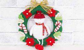 Guirlanda de Natal em Feltro: ideias, passo a passo e moldes