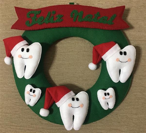 guirlanda para porta de dentista