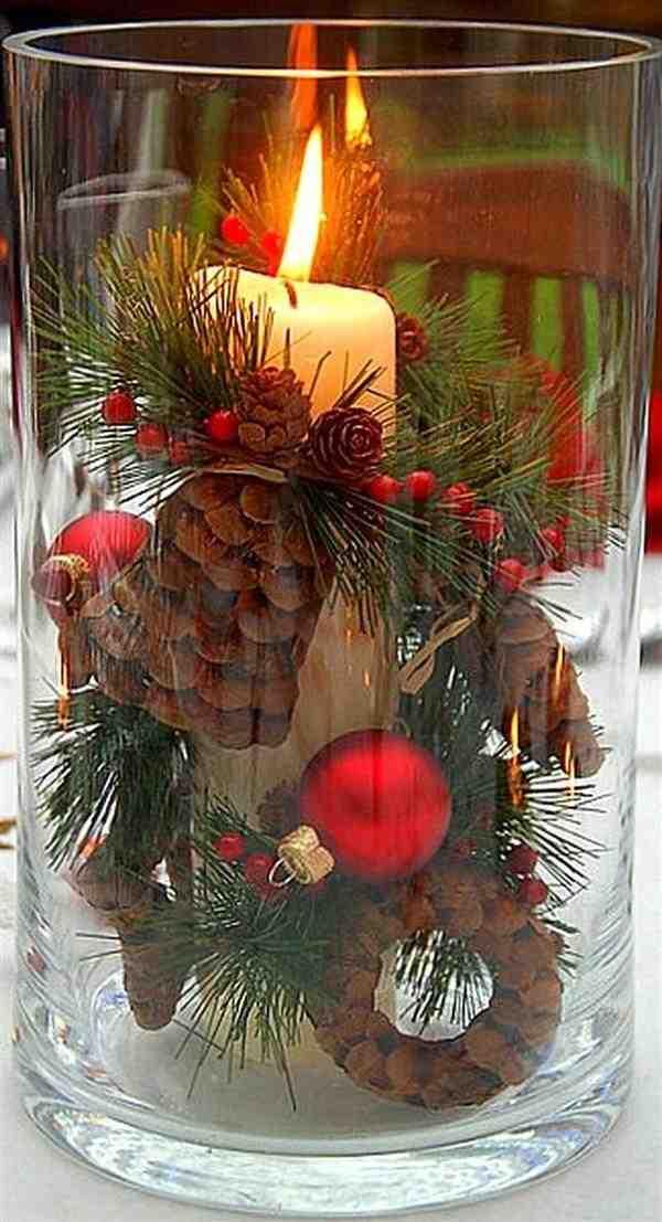 decoração de mesa de natal barata