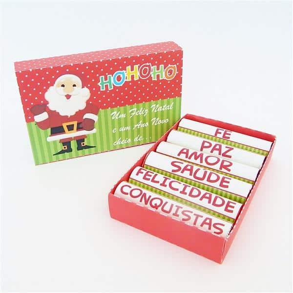 chocolate baton personalizado de natal