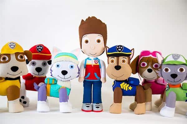 bonecos da patrulha canina em feltro