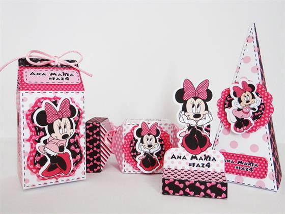 personalizados da minnie rosa