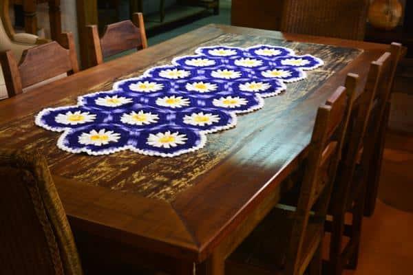bico de croche para caminho de mesa