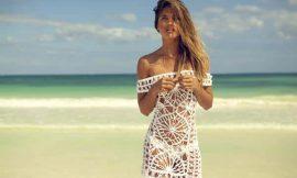 Saída de Praia de Crochê: modelos e passo a passo com gráfico
