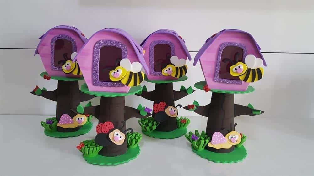 centro de mesa abelhinha