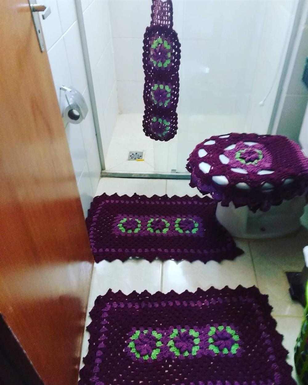 tapete de barbante para banheiro