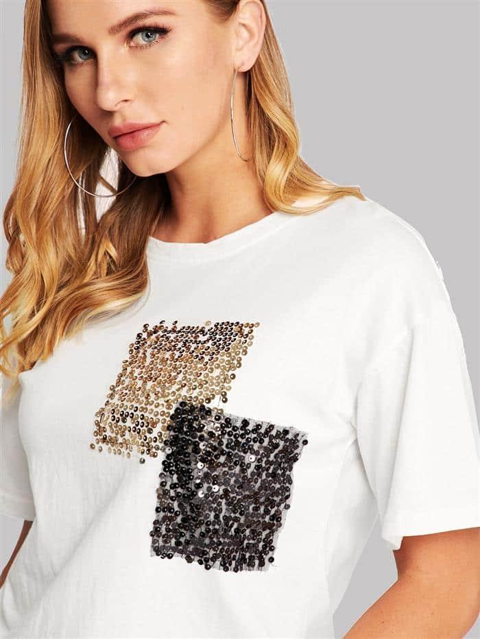 customizar camisetas com paetes