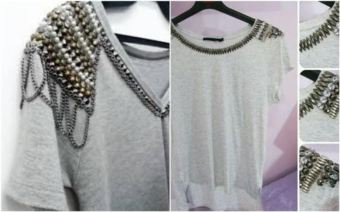 customizar camisetas femininas com decote v