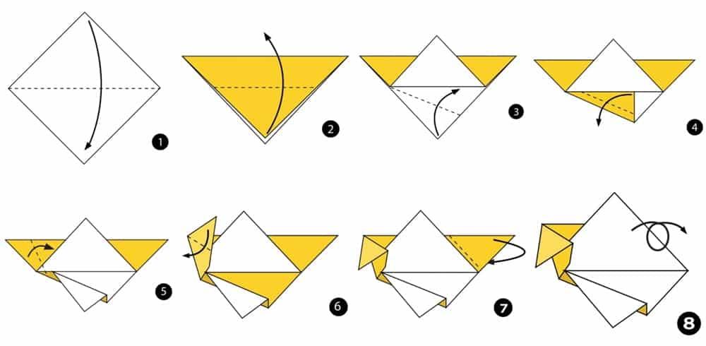 como fazer dobradura de peixe