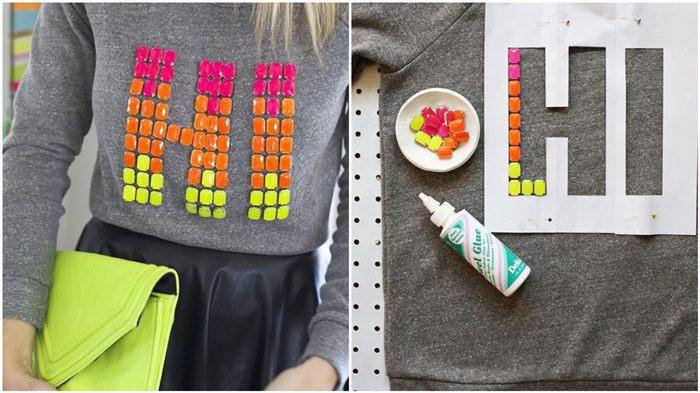 como customizar camisetas com apliques