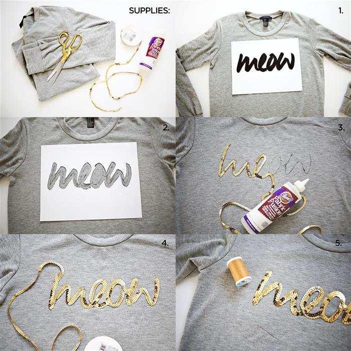 como customizar camisetas com criatividade e fita de paete