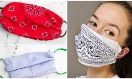Como fazer máscara sem costura: modelos de pano, TNT e perfex