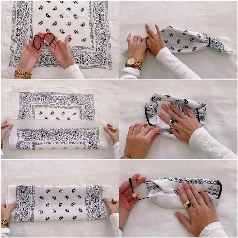 como fazer mascara de proteção com lenço