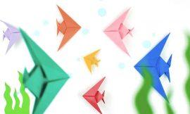 Dobradura de Peixe: origami passo a passo simples