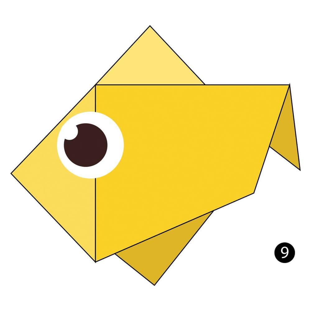 dobradura de peixe com triangulo