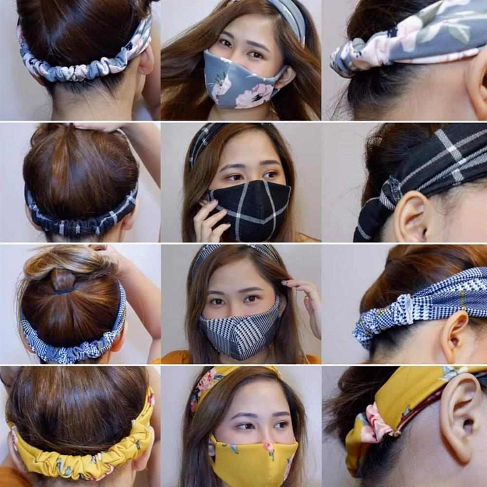 tiara de cabelo com mascara