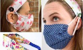 Tiara com máscara passo a passo com molde