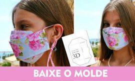 Máscara 3D de tecido passo a passo com molde