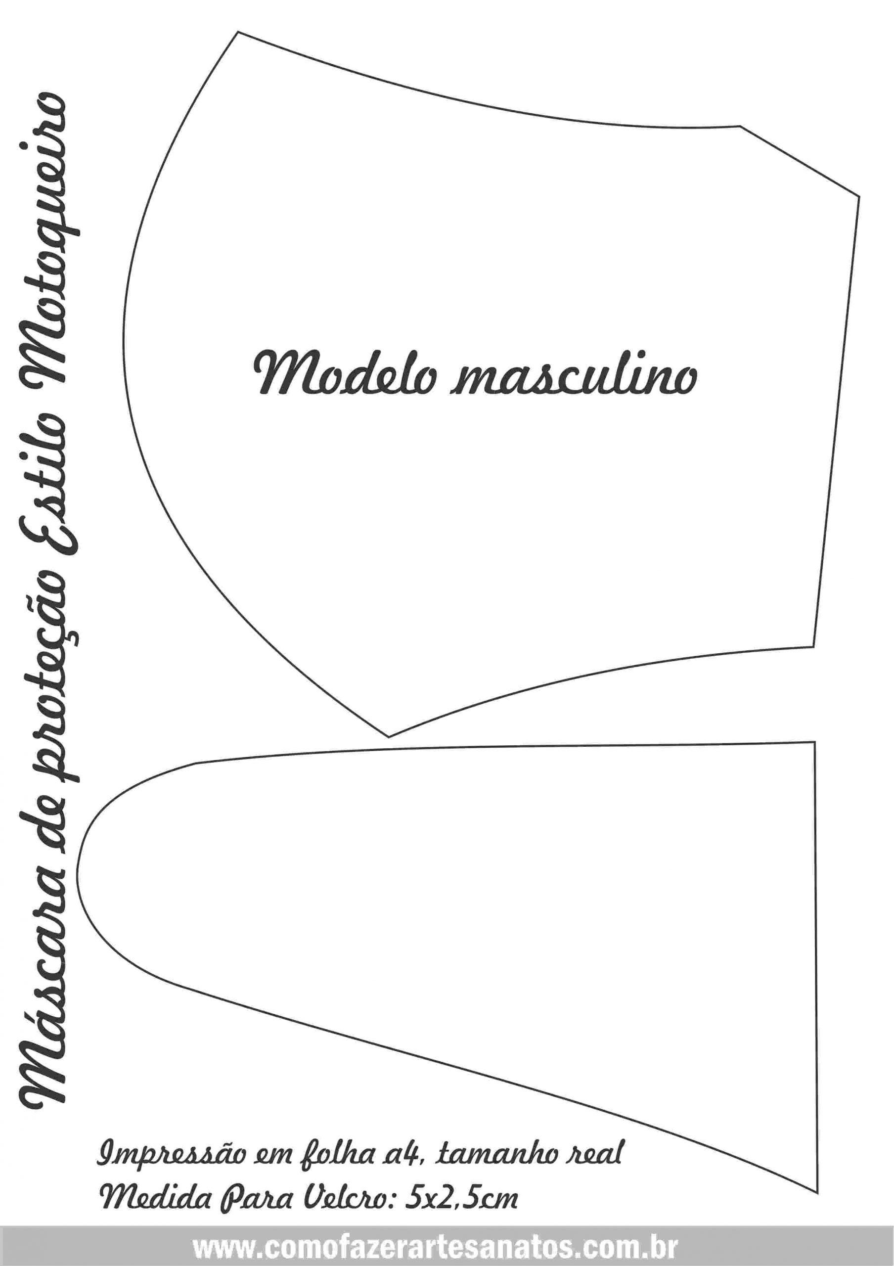molde de mascara motoqueiro